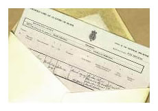 England & Wales Death Certificate