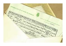 England & Wales Marriage Certificate
